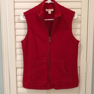 Coldwater Creek SZ S Fleece Lined Sweatshirt Vest